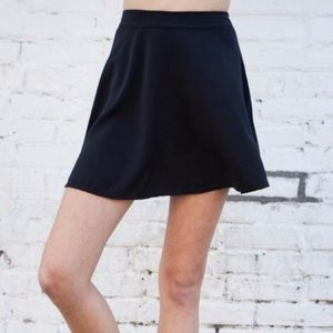 Brandy Melville Skater Skirt Black